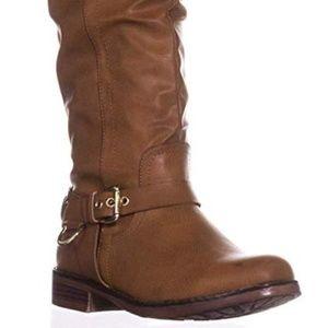 XOXO Mauricia Tall Boots Cognac 9M